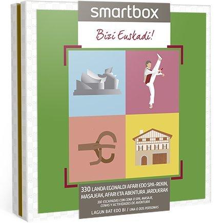 Smartbox – Caja Regalo BIZI EUSKADI – 330 Landa egonaldi afari edo spa-rekin, masajeak, afari eta abentura jarduerak