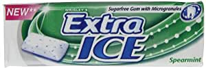 EXTRA ICE Spearmint Sugar Free Chewing Gum 10 Pellets (Pack of 30)
