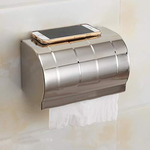 ACHICOO Raum Aluminium Postbox Typ Toilettenpapierhalter Fall mit Abdeckrolle Badezimmer wasserdicht Tissue Box Roll Tissue Holder Licht/Länge 20cmfür den Heimgebrauch