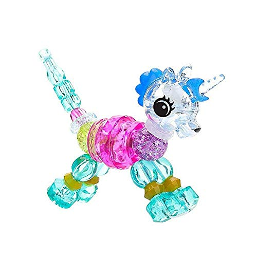 LK.8871 10pcs Magische Haustiere Armband, Kinder niedlichen Tiere Perlen bunte Juwel DIY Armband, machen Sie ein Armband oder eine Drehung in ein Haustier (Einhorn)