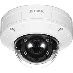 D-Link DCS-4602EV Vigilance Caméra IP Dome PoE Full HD Extérieure Anti Vandale - Capteur CMOS Progressif 2 Megapixel - H.264/MJPEG - Surveillance Extérieure et Intérieure Jour & Nuit
