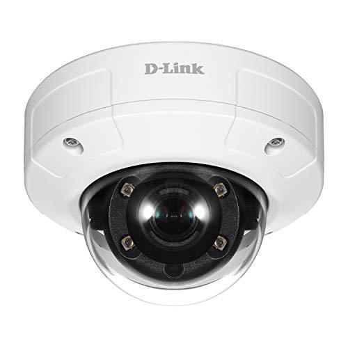 D-Link DCS-4602EV Überwachungskamera (für den Innen- und Außenbereich, Aufzeichnungen in Full HD-Qualität, Tag und Nacht, integrierte LED-Beleuchtung, PoE) weiß