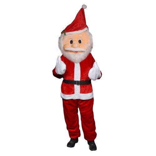 achsene Männer Plüsch Santa Claus Maskottchen Kostüm (Santa Maskottchen)