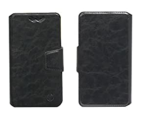 J Cover Bonded Series Leather Pouch Flip Case With Silicon Holder For Samsung Galaxy S5 Mini Duos Black