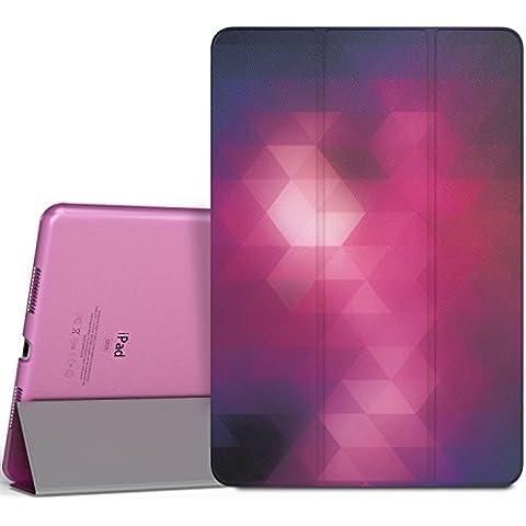 MoKo iPad Pro 9.7 Funda - Ultra Slim Función de Soporte Protectora Plegable Smart Cover Trasera Transparente Durable (Auto Sueño / Estela) Para Apple iPad Pro 9.7 2016 Tableta, Fantasía Diamante