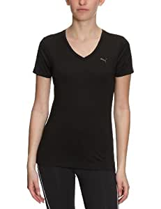 PUMA Damen T-Shirt Essential V, black, XS, 506263 05