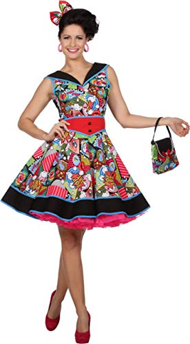 Pop Art Kostüm Comic - Wilbers & Wilbers NEU Damen-Kostüm Kleid Pop-Art, Gr. 40
