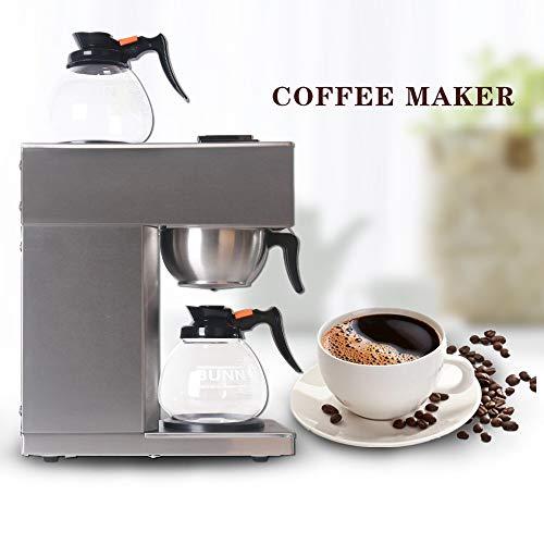 Mr.Fragile Automatische Espresso Maschine, Edelstahl-Amerikanische Tropf Kaffeemaschine Mit Filter...