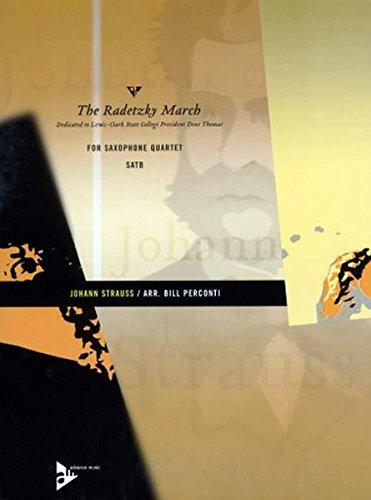The Radetzky March: 4 Saxophone (SATBar). Partitur und Stimmen.