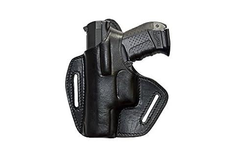 Glock 17 19 22 23 25 31 32 34 37 Left Leather Pistol Holster Belt Holster