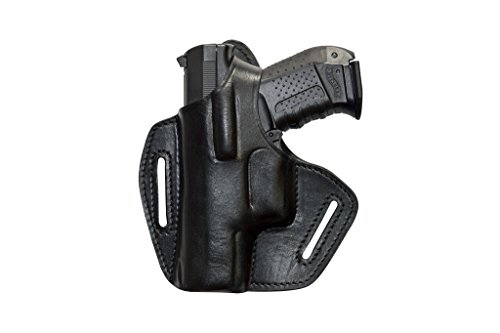 Leder Pistolenholster Gürtel Holster für Glock 17 19 22 23 25 31 32 34 37 - Linkshänder-shirt