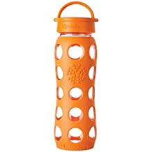 Lifefactory 13572 - Botella, cristal, 650 ml, color naranja