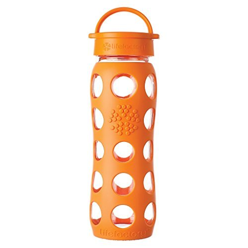Lifefactory 13572 - Botella, cristal, 650 ml, color naranja