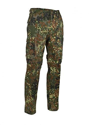 e US Style Outdoor Jungle Hose Zipp-Off Anglerhose mit Reißverschluss verschiedene Farben XS-XXL (XXL, Flecktarn) ()