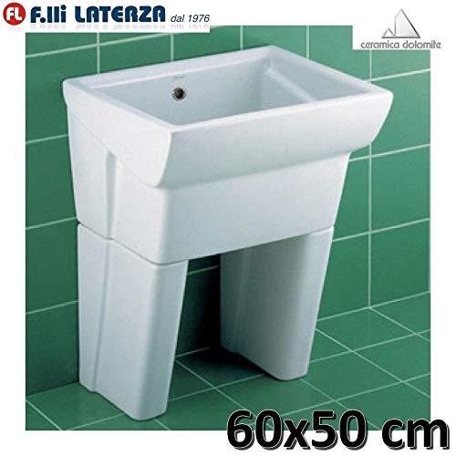 Waschbecken aus Keramik 60 x 50 Serie MESSICO DUE 2 DOLOMITE mit Füßen