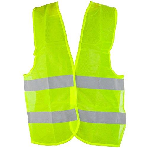 Hosaire 1x Auto Warnweste EN471 Gelb Sicherheitswarnweste,Knitterfrei,Waschbar,Standardgröße Reflective Vest
