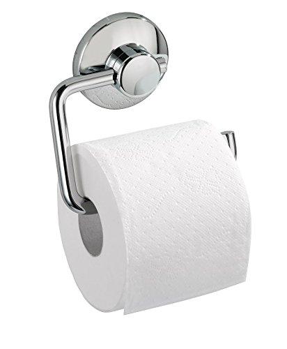 Badezimmerzubehör ohne bohren  Wenko 18205100 Toilettenpapierhalter Magic-Loc - Befestigen ohne ...