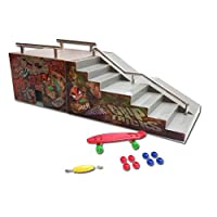 Grip & Tricks - Rampas para Finger Toy - FUNBOX - Fingerboard - Cruiser Board : Dimensions: 28 X 12 X 10 cm de E.M.D