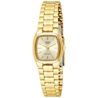 Watch for Women by Casio, Analog, Stainless Steel, Gold, LTP-1169N-9A