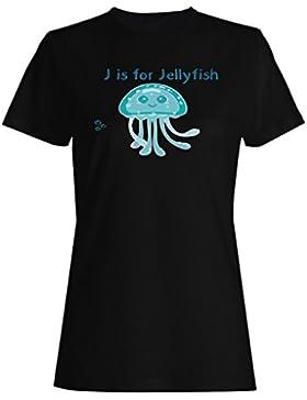 Nueva J Para Las Medusas Divertidas camiseta de las mujeres l394f