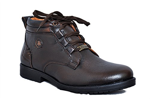 new style d70f2 027a4 35% OFF on Zoom Mens Shoes Genuine Leather Boots Formal Shoes D-3571-Brown  on Amazon   PaisaWapas.com