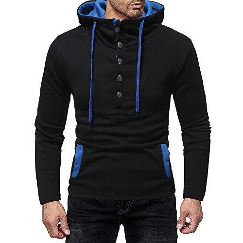 (DEELIN Sweatshirts Herren Langarm Herbst Winter Splicing Pocket Casual Sweatshirt Hoodies Bluse)