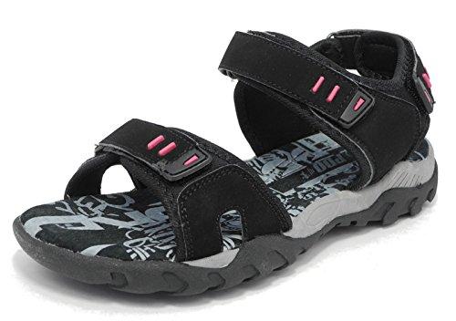 Unknown - Scarpe con cinturino alla caviglia donna Nero (nero)