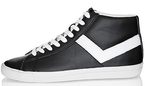 Sneakers Pony - Topstar Hi - Black White Noir