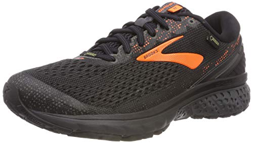 Brooks Ghost 11 GTX, Scarpe da Running Uomo, Multicolore (Black/Orange/Ebony 038), 44.5 EU