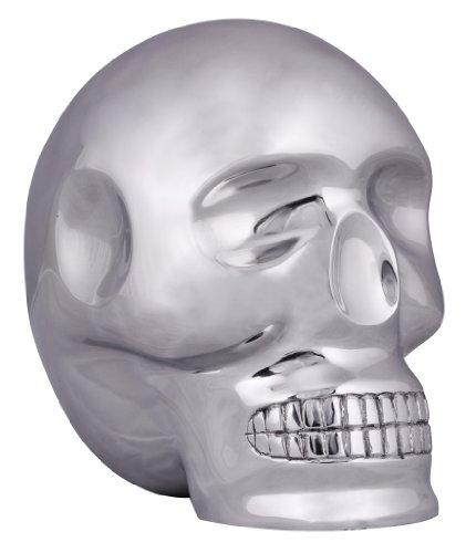 Wohnling Design Deko Skull XXL, 23 x 23 x 18 cm Schädel Totenkopf, Alu Totenschädel Geschenkidee, Skelett Dekoration, Aluminium ()