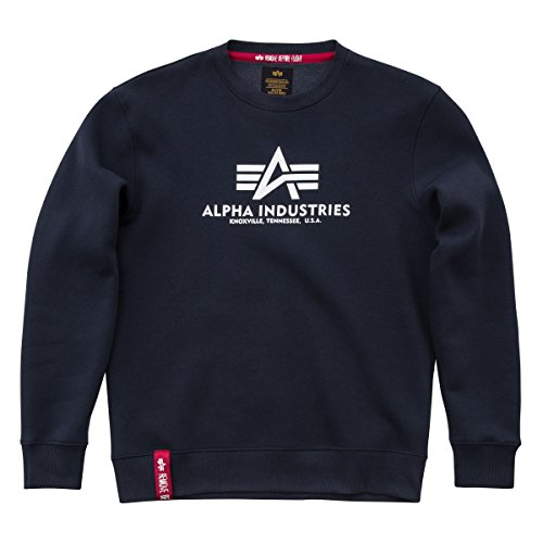 timeless design 5f182 d728a Alpha Industries Basic Sudadera navy