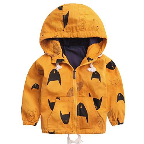 ARAUS Kinder Cartoon Jacken Windjacke Übergangsjack Kinderbekleidung Niedliches mit Kapuzen 1-8 Jahre Alt (Jacken 1 Für Alt Jahr)
