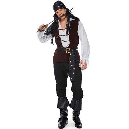 TTWL Halloween Fluch Der Karibik M-XL Männlicher Pirat Erwachsener Set Spiel Anime Cosplay Bühnenshow XL