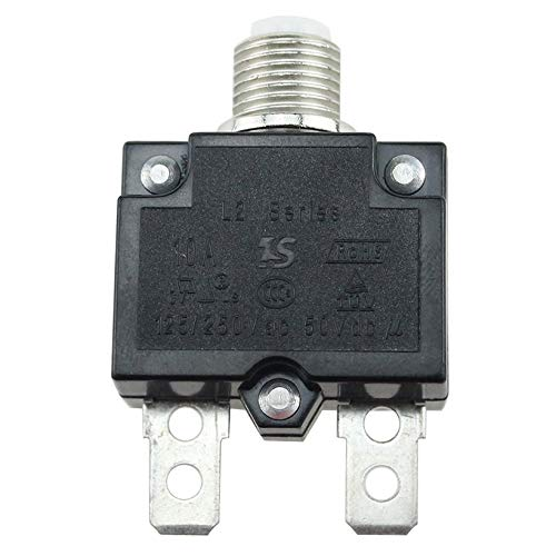 JICHUIO 5A/10A/15A/20A/30A Push Button Resettable Thermal Circuit Breaker Panel Mount -
