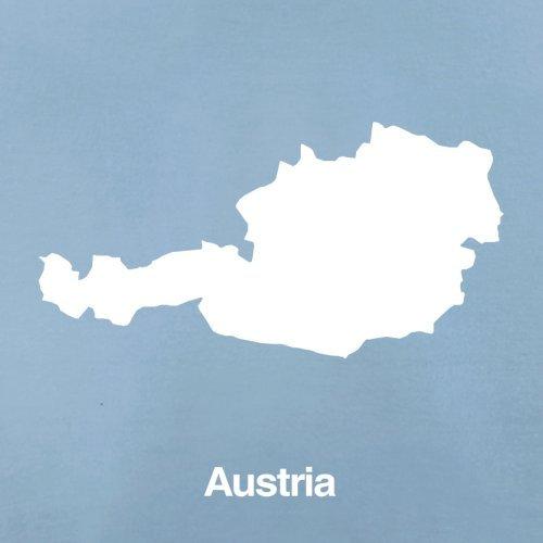 Austria / Österreich Silhouette - Herren T-Shirt - 13 Farben Himmelblau