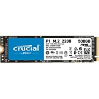 Crucial P1 3D NAND NVMe PCIe M.2 SSD - CT500P1SSD8 500 GB CT500P1SSD8