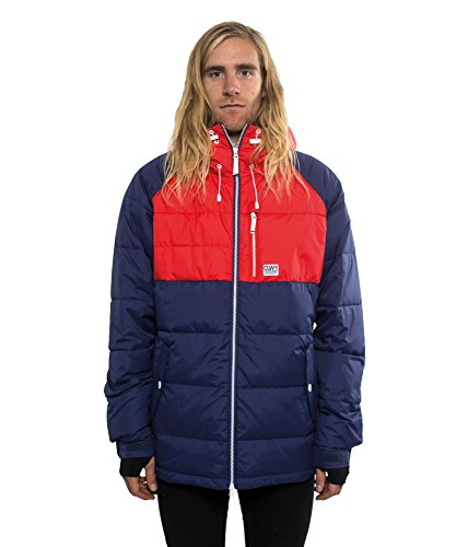Colour Wear Herren Snowboardjacke Hype Jacket Patriot Blau