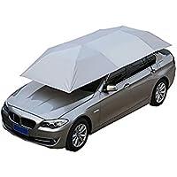 Carport Carpa Móvil Carport Doblada Portátil Semiautomática Protección A Prueba De Viento Paraguas Sunproof Car Canopy