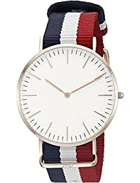 Glossix New Collection Luxurious Slim Dial White Stylish Belt Analog Watch For Boys And Girls Dw