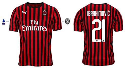 AC Mailand Trikot Herren 2019-2020 Home Serie A - Ibrahimovic 21 (XXL)