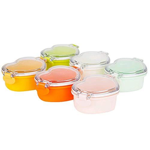 BPA FREI 6-STÜCKE Block Babynahrung Lagerung Gefrierschrank Container Set Sichere Kinder Nahrungsergänzungsmittel Box Tragbare Snacks Frische Lebensmittel, 1 (Lebensmittel-lagerung-container Gefrierschrank)