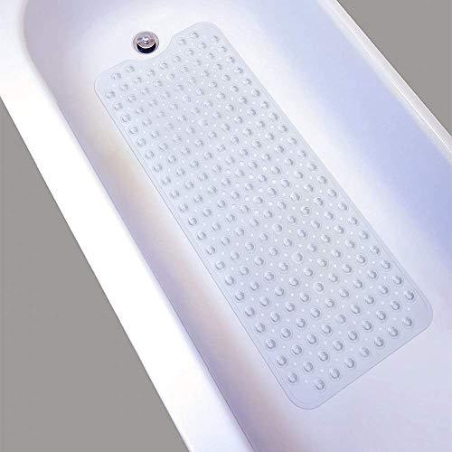 Nifogo Duschmatte, Anti rutsch badewanne, Badewannenmatte, Rutschfeste Badematte für Badewanne, Naturkautschuk mit super Saugnäpfe, Schimmel resistente, Antibakterielle, 100cm X40cm (Transparent)