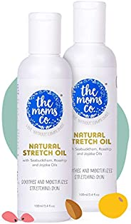 The Moms Co. Natural Stretch Oil, 7 in 1 Natural Bio Oil - Clinically Proven Formula - Australia-Certified Tox