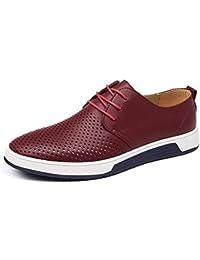 Minetom Homme Business Mocassins en PU Formel Informel Lacets Été Automne  Loafers Casual Bateau Chaussures De 56fa143cfe9