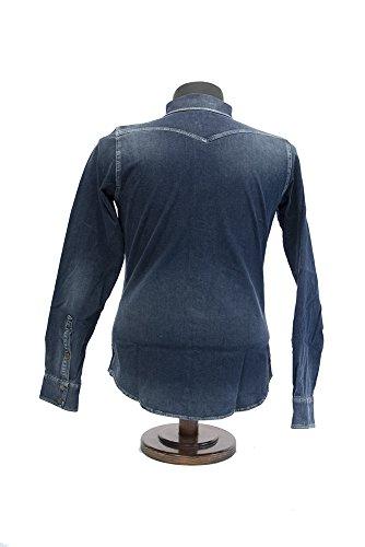 Diesel Herren Freizeit-Hemd Blau Blau Large Blau - BLEU DENIM