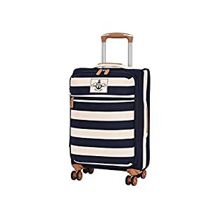 it luggage Anchor-Lite 8Wheel Lightweight Suitcase Cabin Koffer, 56 cm, 37 liters, Mehrfarbig (Navy with White Bands)