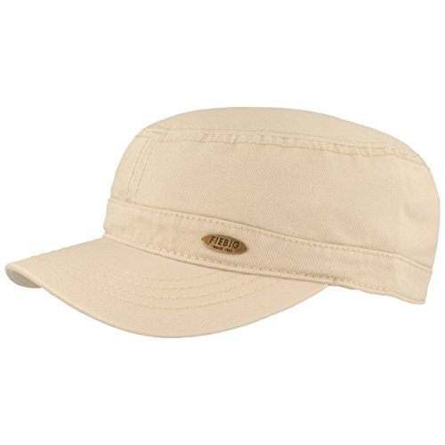 Fiebig Army-Cap | Schirmmütze | Kuba-Kappe im Military-Stil - aus 100% Baumwolle mit UV Schutz 50 - Größenverstellbarer Klettverschluss - Hautfreundlich & Bequem