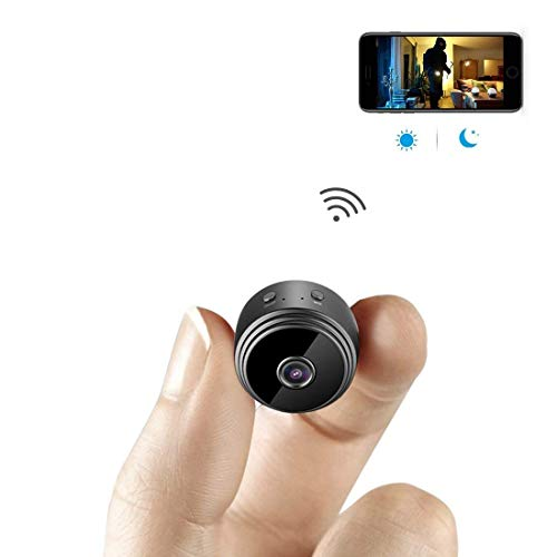 AHAXAMini Spy Camera WiFi Hidden Camera Wireless HD 1080P Indoor Home Small Spy Cam Security Cameras/Nanny Cam Built-in Battery with Motion Detection/Night Vision for iPhone/Android Phone/iPad/PC