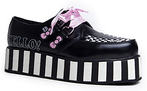 T.U.K. , Damen Sneaker Schwarz/Weiß