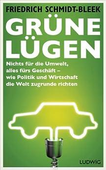 Grüne Lügen: Nichts für die Umwelt, alles fürs Geschäft - wie Politik und Wirtschaft die Welt zugrunde richten von [Schmidt-Bleek, Friedrich]